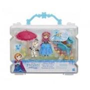 Jucarie Hasbro Disney Frozen Small Doll Little Kingdom Summer Picnic Anna & Olaf