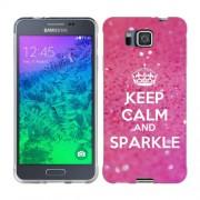 Husa Samsung Galaxy Alpha G850F Silicon Gel Tpu Model Keep Calm Sparkle