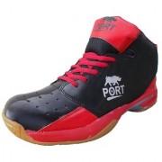 Port Men's Stride Red Badminton Shoes