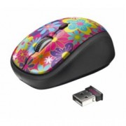 Мишка TRUST Yvi Flower Power, оптична(1600dpi), безжична, USB