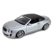 2012 2013 Bentley Continental Supersports Soft Top Silver 1/18 by BBurago 11037
