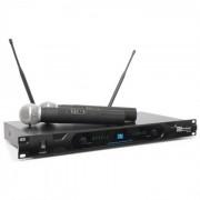 Power Dynamics PD722H Système émetteur récepteur UHF 2 canaux + 2 micros sans fi