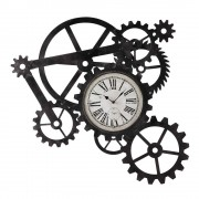 Maisons du Monde Reloj industrial de metal An. 86 cm ENGRENAGE