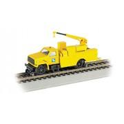 Bachmann Industries Maintenance of Way Hi Rail Equipment Truck with Crane DCC Equipped Conrail Train