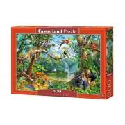 Puzzle Jungla cu animale, 500 piese