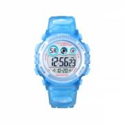 Ceas de copii sport SKMEI 1451 waterproof 5ATM cu cronometru,alarma, data si iluminare ecra, albastru