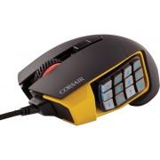Mouse Gaming Corsair Scimitar PRO RGB MOBA/MMO (Negru/Galben)