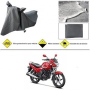 Ronish 100 Waterproof Heavy Quality Bike Body Cover for Standard Size Grey for Hero Achiever