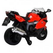 Motocicleta electrica BMW K130S cu sunete si lumini pentru copii rosie