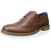 Ben Sherman Men's Brent Oxford, Tan, 40 M EU/7 M US