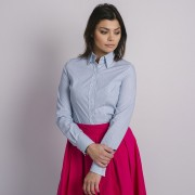 Női kék ing Willsoor finom mintázatú pöttyös 8915