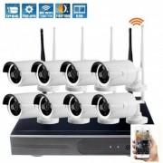 Grantek Kit IP WiFi 8 Caméras Extérieures + Enregistreur