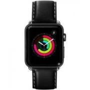 Apple LAUT Oxford Apple Watch 40MM / 38MM Bandje Echt Nappa Leer Noir
