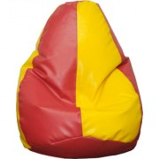 Fat Finger Fabric Xxxl Bean Bag Cover - (Yellow Red 28 Inch X 42 Inch)
