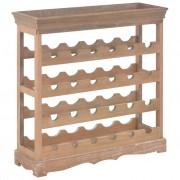 vidaXL Шкаф за вино, кафяв, 70x22,5x70,5 см, МДФ