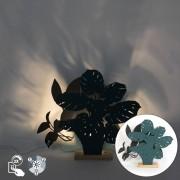 QAZQA Lampe de table rurale avec 2 nuances de bleu - Silhouettes