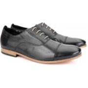 Clarks Chinley Cap Black Leather Lace Up For Men(Black)