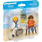Playmobil Duo Pack - Doctora Y Paciente - 70079