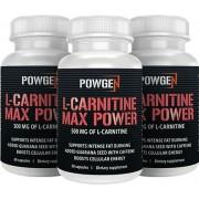 PowGen L-Carnitina Max Power - 1+1 GRATIS - cápsulas que destruyen la grasa. Para 3 meses.