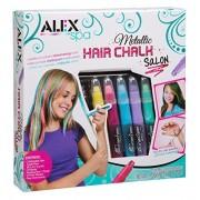 Alex Toys Spa Metallic Hair Chalk Salon, Multi Color