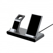Wireless Charger, RAPOO XC600, Qi, 7.5/10W, 3-в-1, Черен (19541)