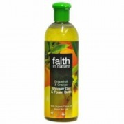 Faith in Nature Bio Grapefruit és Narancs tusfürdő, 400 ml