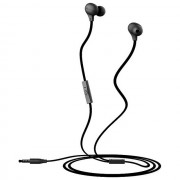 Usams Auricolare Originale A Filo Stereo Ewave Series In-Ear Hsyl01 Jack 3,5mm Black Per Modelli A Marchio Acer