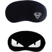 Jenna Cartoon Super Smooth Sleep Mask, Blind Fold And Travel Accessory W_Superman WhiteEye (Pack of 2) Eye Shade(Multicolor)