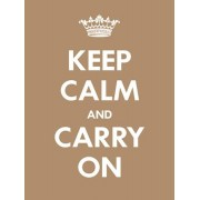 Itas design Keep calm - Ljusbrun 18