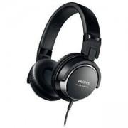 Слушалки Philips 40 мм мембрани/затворен гръб, Стил на следене DJ, Дишащи възглавнички за ушите, Компактно сгъване SHL3260BK