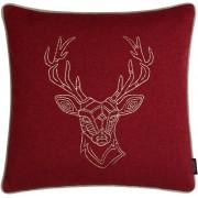 Rohleder Home Collection Chalet My Deer Kissen mit Füllung - Berry - 50x50
