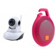 Zemini Wifi CCTV Camera and Clip Bluetooth Speaker for SAMSUNG GALAXY S 5 MINI (Wifi CCTV Camera with night vision |Clip Bluetooth Speaker)
