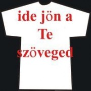 Egyedi póló - Egyedi szövegezés