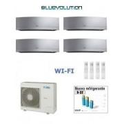 Daikin Kit Quadri Emura Silver 4mxm68m + 3 X Ftxj25ms Wi-Fi + Ftxj35ms Wi-Fi 9+9+9+12