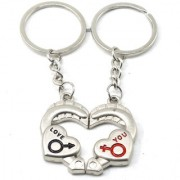 Faynci Love You Romantic Couple Key Chain for Gifting for Valentine Day/Birthday/Friendship Day