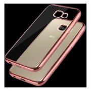 Para Samsung Galaxy A7 (2017) / A720 Galvanotecnia Marco Suave Tpu Protector Caso (Dorado Rosa)