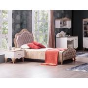 Тапицирано легло 120/200 с табла за детска стая Мебели Богдан модел Balat-Welt Creme с механизъм