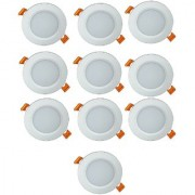 HFK Led Downlight Led Round Panel Focus Light 12 WATT Pack Of 10 (White) with six months warranty