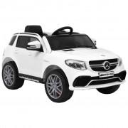 vidaXL Детска кола Mercedes Benz GLE63S пластмаса бяла