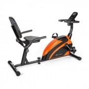 KLARFIT Relaxbike 6.0 SE, fekvő bicikli, 12 kg lendkerék, mágneses ellenállás, 100kg (FIT4-Relaxbike.6.OR)