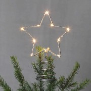 LED treetop Topsy with a metal star