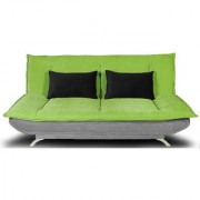 houzzcraft iris sofa cum bed in green and grey