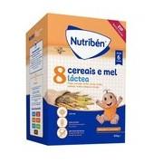 Papa 8 cereais e mel com leite adaptado 600g - Nutriben