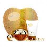 Golden Delicious Coffret: Eau De Parfum Spray 100ml/3.4oz + Body Lotion 100ml/3.4oz + Miniature + Key Chain 4pcs Golden Delicious Комплект: Парфțм Спрей 100мл + Лосион за Тяло 10мл + Миниатțра + Клțчодържател
