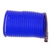 Tubo aria compressa spirale/spiralato in PVC ad innesto rapido 5m