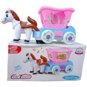 OH BABY BABY 3D LIGHT HORSE MUSICAL POWER WITH AUTOMATIC SENSOR PINK COLOR HORES FOR YOUR KIDS SE-ET-16