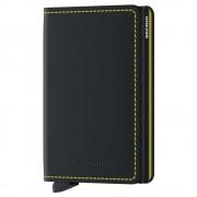 Secrid Porta Carte linea Matte in Pelle Black e Yellow con RFID