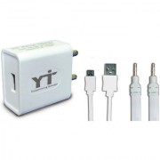 YTI Wall Charger Accessory Combo for Micromax A315 Canvas 4 Plus