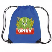 Bellatio Decorations Spiky de dinosaurus rugtas / gymtas blauw voor kinderen
