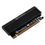 Adaptor Silverstone ECM23 de la port M.2 la PCI Express x4, radiator inclus
